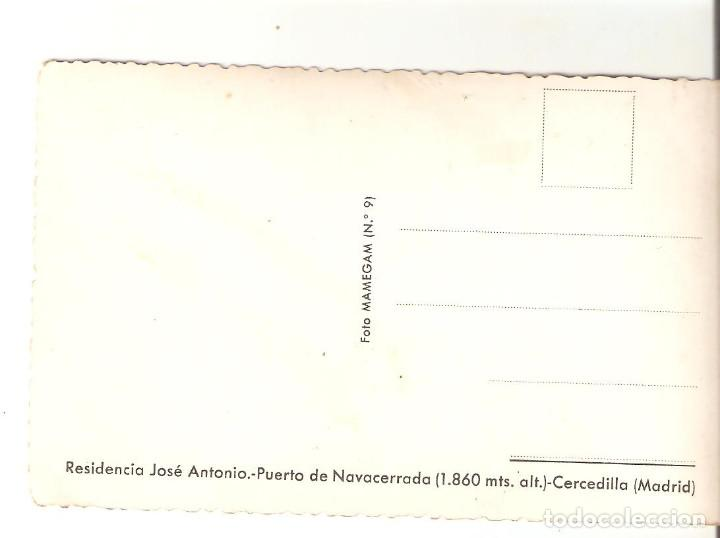 Postales: Postal Residencia José Antonio. Puerto de Navacerrada. Cercedilla, Madrid. Foto Mamegan, nº 9 - Foto 2 - 101592575