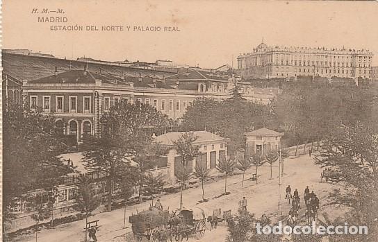 MADRID-ESTACION DEL NORTE Y PALACIO REAL (Postales - España - Comunidad de Madrid Antigua (hasta 1939))