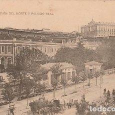 Postales: MADRID-ESTACION DEL NORTE Y PALACIO REAL. Lote 102274387