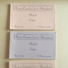 Postales: TARJETA POSTAL- NUEVA CATEDRAL ALMUDENA-CRIPTA- MADRID - LOTE 3 ALBUM. Lote 102232823
