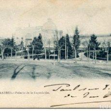 Postales: MADRID-PALACIO DE LA EXPOSICIÓN - REGALO GRAND HOTEL DE LA PAIX-SIN DIVIDIR--MUY RARA. Lote 102777771