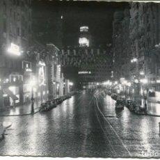 Postales: MADRID-NOCTURNO- AVDA JOSÉ ANTONIO-HOTEL CAPITOL. Lote 102778851