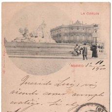 Postales: MADRID.- PLAZA DE CIBELES. UNION POSTAL UNIVERSAL. SELLO PELÓN. HAUSER Y MENET. Lote 103077355