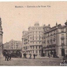 Postales: MADRID.- ENTRADA A LA GRAN VIA. FOT. LACOSTE. Lote 103077647