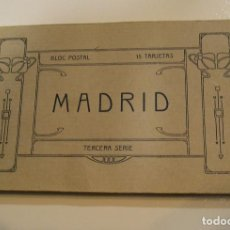 Postales: BLOC POSTAL , 15 POSTALES MADRID SERIE TERCERA UNICO EN TODOCOLECCION ,FOTOS DE TODAS LA POSTALES. Lote 103648015