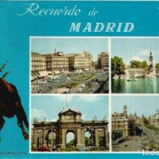 Cartoline: RECUERDO DE MADRID - FOTOS COLOR LLOPIS - EDICIONES SOL DE ESPAÑA - CIRCULADA. Lote 103854543