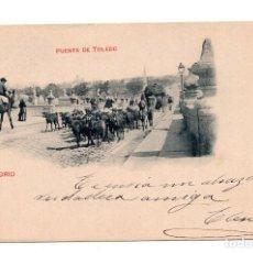 Postales: MADRID.- PUENTE DE TOLEDO.- EDIT. HAUSER Y MENET.. Lote 103858547
