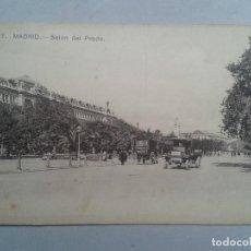 Postales: MADRID. SALÓN DEL PRADO. CAMIONES DE ÉPOCA.. Lote 103864871