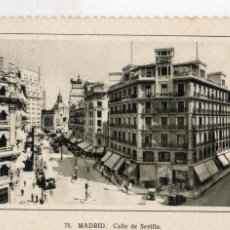 Postales: MADRID.-C/ DE SEVILLA, CIRCULADA. S/F, FTO F. MOLINA,JMOLINA1946. Lote 104056883