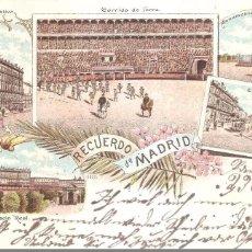 Postales: MADRID RECUERDO DE MADRID LITOGRAFÍA 1906. Lote 104070495