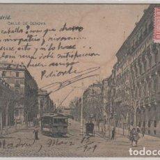 Postales: 73 MADRID CALLE DE GENOVA CIRCULADA. Lote 104080311
