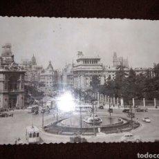 Postales: POSTAL 1951 VISTAS MADRID CIBELES Y CALLE ALCALA. Lote 104289134