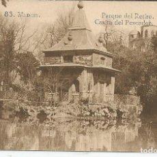 Postales: POSTAL MADRID - PARQUE DEL RETIRO, CASITA DEL PESCADOR - GRAFOS MADRID. Lote 104325631
