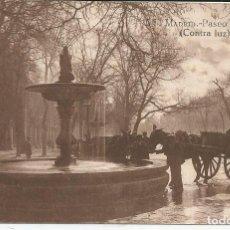 Postales: POSTAL MADRID - PASEO DEL PRADO (CONTRA LUZ) - GRAFOS MADRID. Lote 104326075