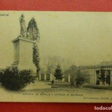 Postales: POSTAL - ESPAÑA - MADRID - 50.- ESTATUA DE MURILLO Y ENTRADA AL BOTÁNICO - FOT. LACOSTE - NE-NC. Lote 104470643