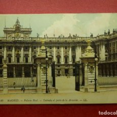Postales: POSTAL - ESPAÑA - MADRID -10.- PALACIO REAL, ENTRADA PATIO ARMERIA - LL -L.L.- LOUIS LEVY ESCRITA. Lote 104480639