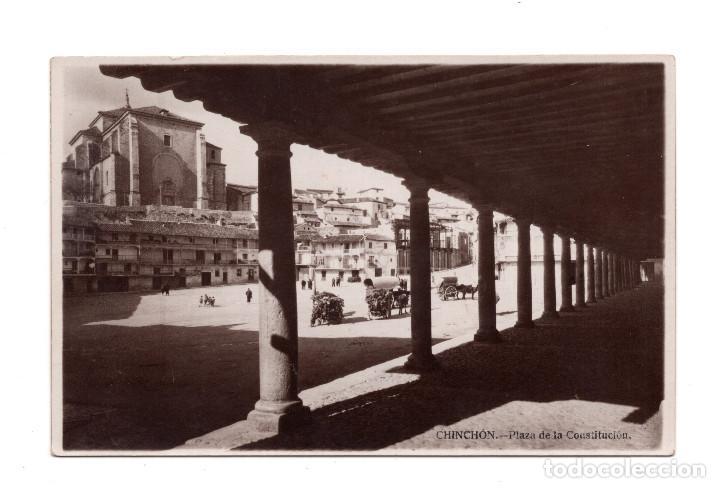 CHINCHÓN (MADRID).- PLAZA DE LA CONSTITUCIÓN - FOTOGRÁFICA (Postales - España - Comunidad de Madrid Antigua (hasta 1939))