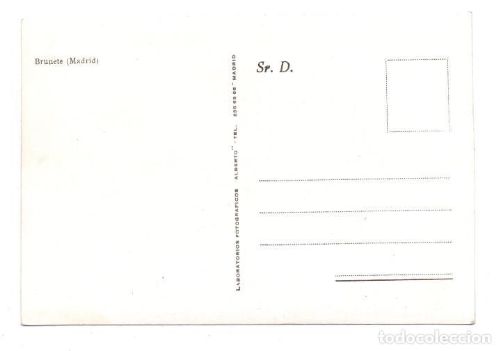 Postales: BRUNETE. MADRID.- AYUNTAMIENTO CON YUGO Y FLECHAS - POSTAL FOTOGRÁFICA - AÑOS 40 - Foto 2 - 104628031