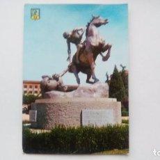 Postales: POSTAL DE MADRID. 1962. CIUDAD UNIVERSITARIA. ESCULTURA PORTADORES DE ANTORCHA. N 33. Lote 104955823