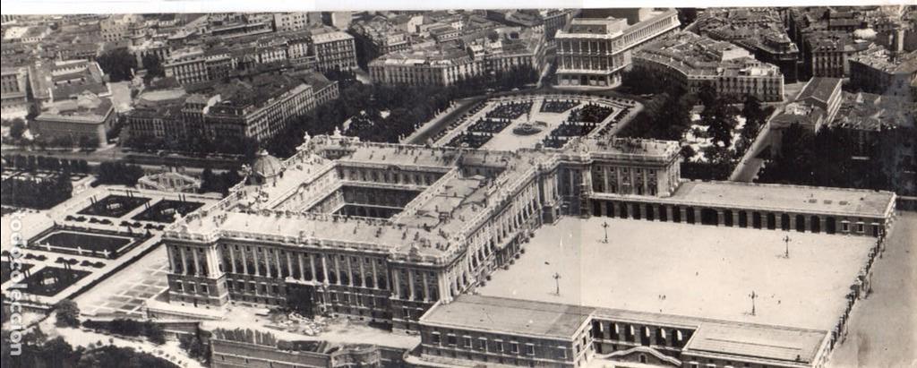 Madrid -Palacio Real, postal Aerea, vista panoramica, Alb,11 -Post,1,Fto  Arrivas,jmolina1946