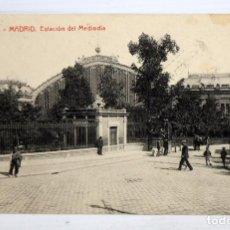Postales: ANTIGUA POSTAL DE MADRID. ESTACION DE MEDIODIA. FOTOTIPIA THOMAS. CIRCULADA. Lote 105167727