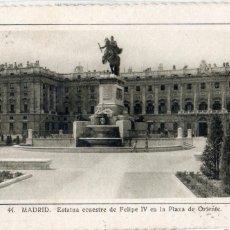 Postales: MADRID.- PLAZA DE ORIENTE, CIRCULADA 1956. FTO F.MOLINA,JMOLINA1946. Lote 105261507