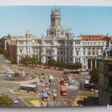 Postales: POSTAL DE MADRID. 1971. PLAZA DE LOS CIBELES Y PALACIO DE LOS COMUNICACIONES. N 58 . Lote 105420419