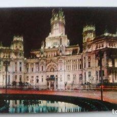 Postales: POSTAL DE MADRID. 1962. PALACIO DE LOS COMUNICACIONES, VISTA NOCTURNA N 31 . Lote 105420763