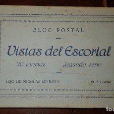 Postales: VISTAS DEL ESCORIAL - 20 POSTALES. Lote 105800143