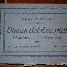 Postales: VISTAS DEL ESCORIAL - 20 POSTALES. Lote 105801071