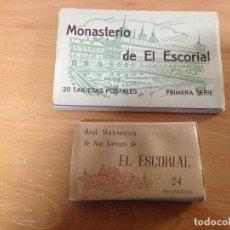 Postales: MONASTERIO DEL ESCORIAL 2 ESTUCHES. Lote 107668395