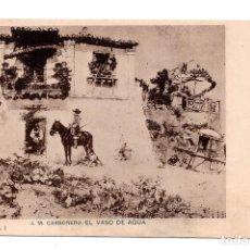 Postales: J. M. CARBONERO - EL VASO DE AGUA - ED. H. M. MADRID- I SERIE. NUM.3. Lote 108310167