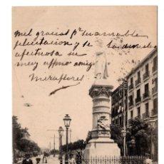 Postales: MADRID. ESTATUA DE ARGÜELLES. Nº58. FOT LACOSTE. Lote 108427971