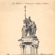 Postales: MADRID.- MONUMENTO A ISABEL LA CATOLICA. Lote 108870775
