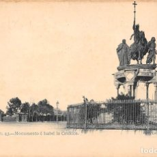 Postales: MADRID.- MONUMENTO A ISABEL LA CATOLICA- FOT LAURENT. Lote 108871567