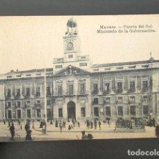Postales: POSTAL MADRID. PUERTA DEL SOL. MINISTERIO DE LA GOBERNACIÓN. . Lote 109241007