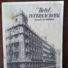Postales: HOTEL INTERNACIONAL. ARENAL,19. MADRID.. Lote 109450331