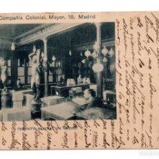 Postales: DEPOSITO GENERAL DE MADRID. COMPAÑIA COLONIAL, MAYOR 18. SINDICATO EDITORES QUINTANA. Lote 110023771