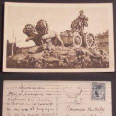 Postales: MADRID, LA CIBELES, POSTAL CIRCULADA DEL AÑO 1921. Lote 110136195