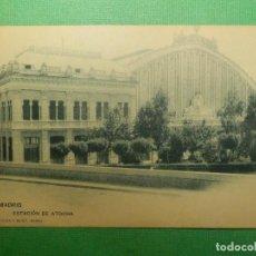 Postales: POSTAL - MADRID - 235.- ESTACIÓN DE ATOCHA - H.M.M - HAUSER Y MENET - NE - NC. Lote 110420211