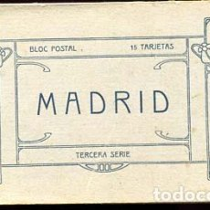 Postales: MADRID BLOC COMPLETO CON 15 POSTALES FOTOTIPIA J. ROIG. TERCERA SERIE. Lote 110650647