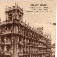 Postales: MADRID.- C/ ARENAL, GRAND HOTEL CIRCULADA 1911, JMOLINA1946. Lote 110897739