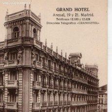 Postales: MADRID.- GRAND HOTEL, C/ ARENAL 19-21 SIN CIRCULAR. FTO. GRAFOS, JMOLINA1946. Lote 110901115