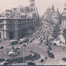 Cartes Postales: POSTAL MADRID - PANORAMICA DE LA PLAZA DE LA CIBELES Y CALLE DE ALCALA - 170 GARRABELLA - CIRCULADA. Lote 110903923