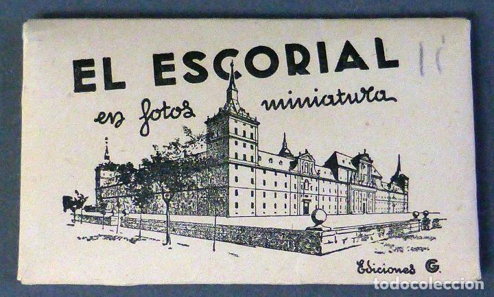 12 MINIATURA POSTALES MONASTERIO EL ESCORIAL GARCÍA GARRABELLA SIN CIRCULAR 8 CM X 4,5 CM (Postales - España - Madrid Moderna (desde 1940))