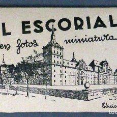 Postales: 12 MINIATURA POSTALES MONASTERIO EL ESCORIAL GARCÍA GARRABELLA SIN CIRCULAR 8 CM X 4,5 CM. Lote 111023431