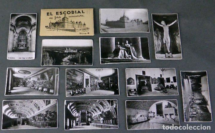 Postales: 12 miniatura postales Monasterio El Escorial García Garrabella sin circular 8 cm x 4,5 cm - Foto 2 - 111023431
