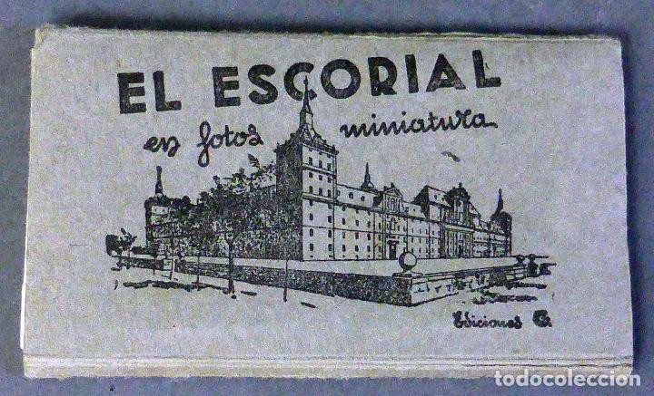 10 MINIATURA POSTALES MONASTERIO EL ESCORIAL GARCÍA GARRABELLA ACORDEÓN DESPLEGABLE 8,5 CM X 4,5 CM (Postales - España - Madrid Moderna (desde 1940))