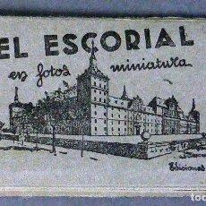 Postales: 10 MINIATURA POSTALES MONASTERIO EL ESCORIAL GARCÍA GARRABELLA ACORDEÓN DESPLEGABLE 8,5 CM X 4,5 CM. Lote 111023535