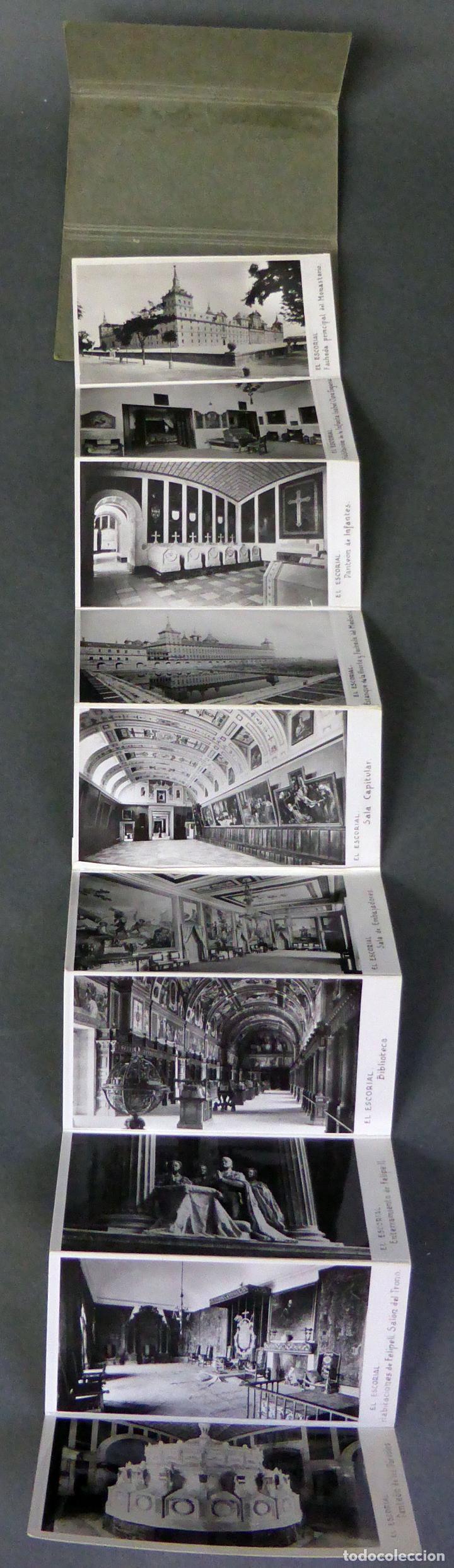 Postales: 10 miniatura postales Monasterio El Escorial García Garrabella acordeón desplegable 8,5 cm x 4,5 cm - Foto 2 - 111023535